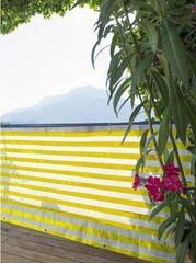 Windhager balkonska ograda Ibiza 0,9x5 m, žuto-bijela, tkanina (06147)