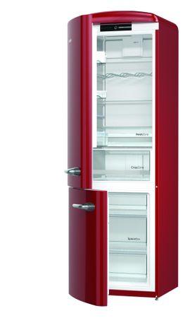 Gorenje ORK192R-L Szabadonálló alulfagyasztós hűtőszekrény, Bordó, 322 L