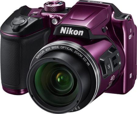 Nikon digitalni fotoaparat Coolpix B500, vijoličen