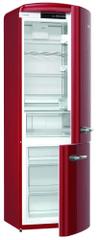 Gorenje ORK192RD Szabadonálló Kombinált hűtőszekrény, Bordó