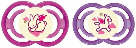 MAM Cumlík  Perfect Night 6+m - 2 kusy ružová/fialová