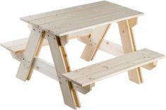 Teddies Ława dla dzieci z siedzeniami, drewniana