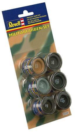 REVELL 32340 Katonai színkészlet, 6x14 ml