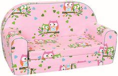 BINO Mini pohovka ružová, sovičky
