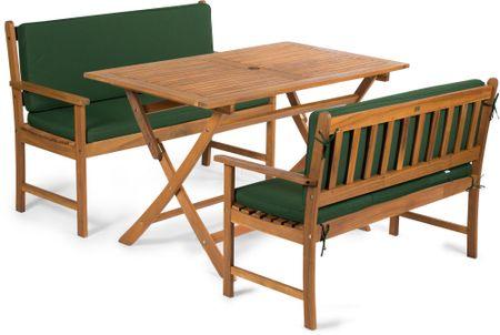 Fieldmann meble ogrodowe EMILY 4L2 + poduszki zielone