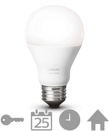 Philips Hue LED žarnica E27, topla bela