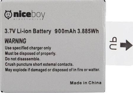 Niceboy Li-ion Vega+ Akkumulátor outlet