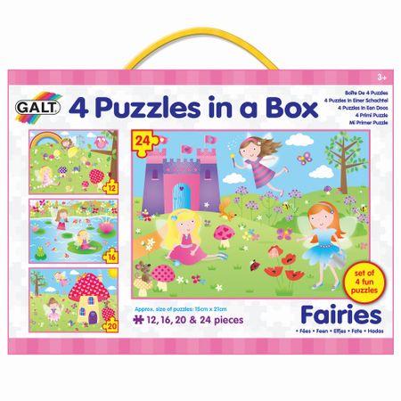 Galt Puzzle Wróżki, 4w1