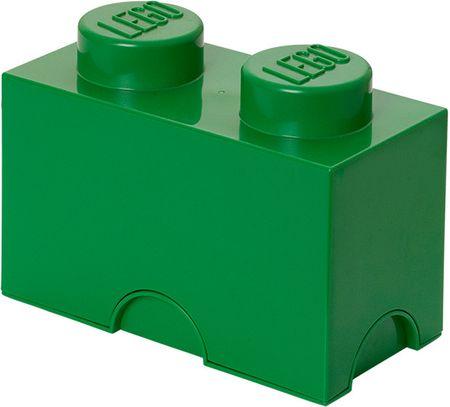 LEGO Úložný box 12x25x18 cm tmavozelená