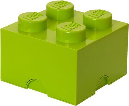 LEGO Úložný box 25x25x18 cm svetlozelená