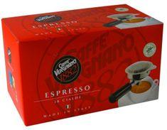 Vergnano Espresso kava v filter vrećicama, 4 x 18 komada