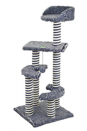 Akinu mačji praskalnik Hairy Jack, črno-bel, 101 cm