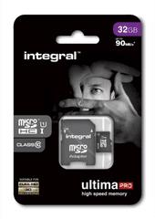 Integral spominska kartica 32GB Micro SDHC class10 90MB/s + adapter