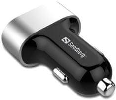 Sandberg Sandberg USB nabíječka do auta, 3 USB, 12-24 V, 7 200 mA 440-79, černá