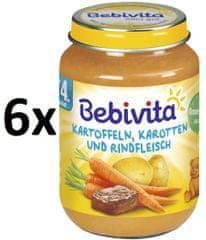 Bebivita Mrkev a brambory s hovězím masem - 6x190g