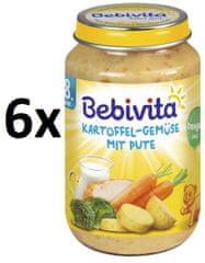 Bebivita Zemiaky so zeleninou a morčacím mäsom - 6x220g