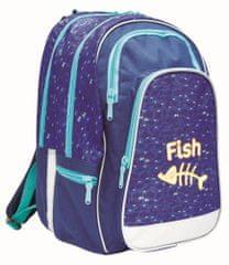 Karton P+P ERGO UNI Fish Iskolatáska