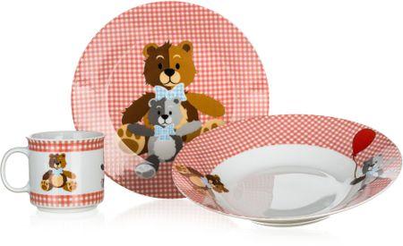 Banquet otroški jedilni set Red Bears, 3 kosi