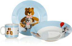 Banquet Dziecięcy zestaw Niedźwiadki Blue 3szt.