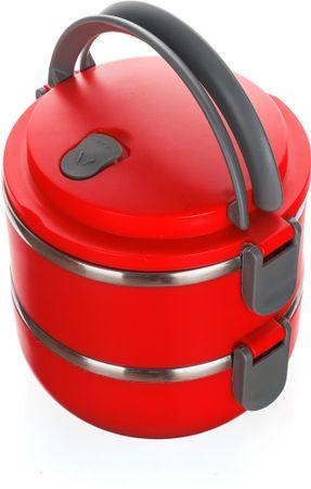 Banquet CULINARIA Műanyag ételhordó, Piros, 1,4 l