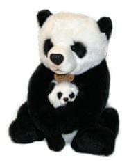 Rappa Plyšová panda s mládětem, 27 cm