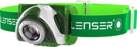 LEDLENSER naglavna svetilka SEO3, zelena