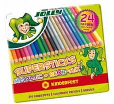 Jolly barvice Kinderfest Metallic Mix 24/1, kovinska embalaža