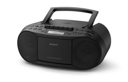 Sony radiokasetofon + CD CFD-S70, črn