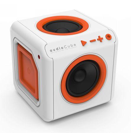 PowerCube audioCube Bluetooth hangszóró, Fehér/Narancs