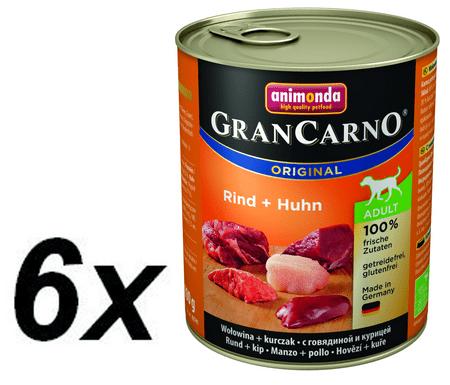 Animonda Grancarmo Adult - hovädzie, kuracie 6 x 800g