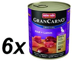 Animonda mokra hrana za starije pse GranCarno, govedina + janjetina, 6 x 800 g