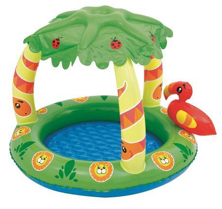 Bestway 52179 Nafukovací bazén Jungle se stříškou - použité