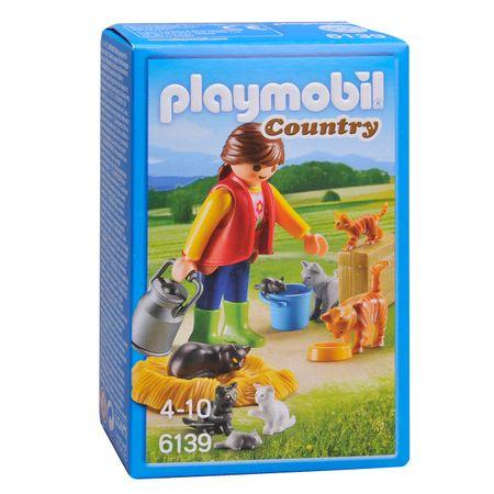 Playmobil 6139 Djevojka s mačjom obitelji