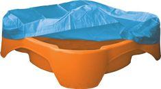 Marian Plast Piaskownica - basen z plandeką, kwadratowa, pomarańczowa
