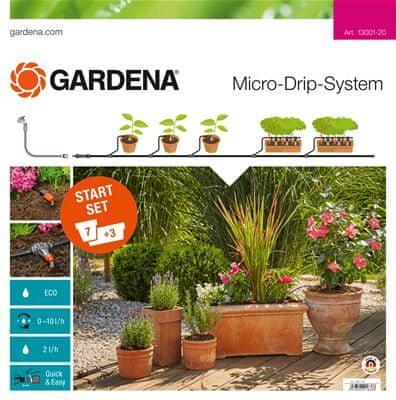 Gardena začetni komplet za namakanje rastlin v lončkih M automatic (13002-20) - Odprta embalaža