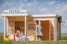 CUBS Dětský dřevěný domek Petrol - použité