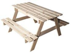 CUBS Drevený piknikový stolík s úložným priestorom