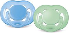 Philips Avent Šidítko SENSITIVE 6-18m., 2ks - modrá/zelená