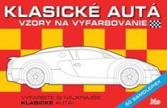 autor neuvedený: Klasické autá - Vzory na vyfarbovanie + 60 samolepiek