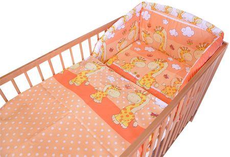 COSING Comfort Ágynemű szett,3 részes,Narancssárga zsiráf