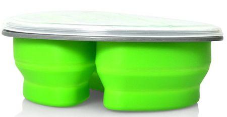 Eldom Silikonski zložljiv LUNCHBOX, zelen