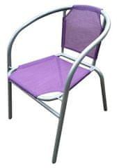 Happy Green čelična stolica Textilen, ljubičasta