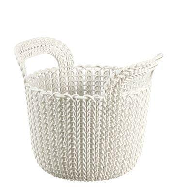 Curver košara Knit, okrogla, bela