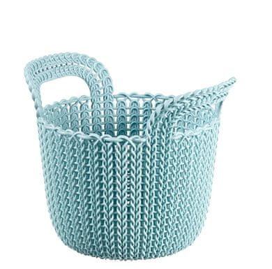 Curver košara Knit, okrogla, sivo modra