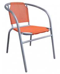 Happy Green Oceľové kresielko textilen - oranžové