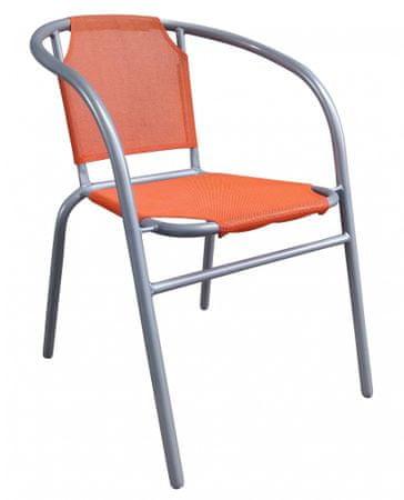 Happy Green stalowe krzesło - pomarańczowe