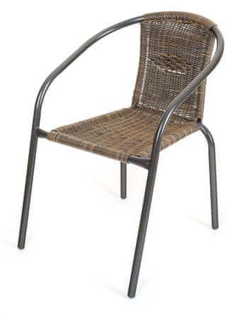 happy green pe ratan kerti szék barna