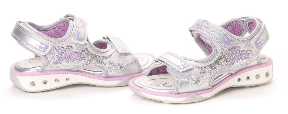 Dívčí Stříbrná Na suchý zip Sportovní obuv od značky Geox CKPD1JOt
