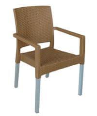 MEGA PLAST MP692 RATAN LUX (AL nohy) židle