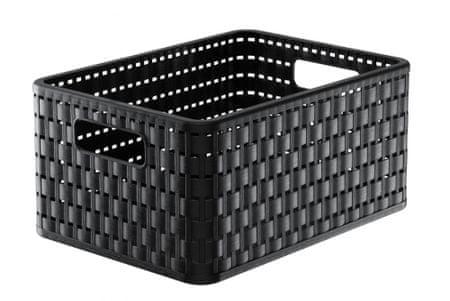 Rotho škatla za shranjevanje Country A5, 11 l, temno rjava